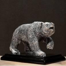 "Статуэтка ""Медведь"" на подставке (сред.) Euro FAR 0995ACB"
