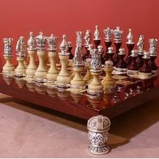 Шахматный набор (доска - дерево красное) SCO105