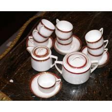 Сервиз кофейный на 10 персон, 22 предмета, товарищество Кузнецова, начало 20 века 1F6