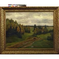 "Картина ""На лесной дороге"" (Шультце И.Ф) 1906 г 3ZH15"