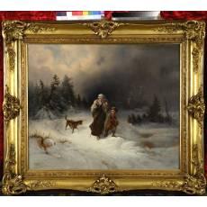 "Картина ""Странствующие"" (Брызгалов А.Б) 1860 - 1880-е гг 5ZH10"