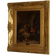 """Картина """"В кухне"""" (Тиллеманс, Патер Ян) 1843 г 15ZH121"""
