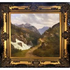 "Картина ""Горы. Водопад"" (Bertsen) 1ZH2"