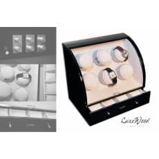 Шкатулка с автоподзаводом для 6-ти часов с выдвижный ящиком для хранения 4-х часов LuxeWood LW326-1