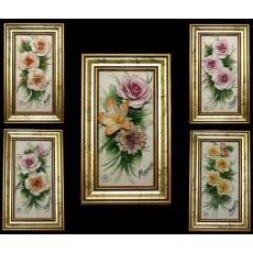 Барельеф с цветами  Artigiano Capodimonte 086rett/ORO