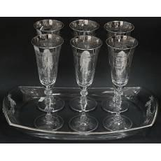 Набор для шампанского Cre Art SG10271 PLAT