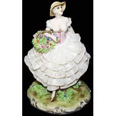 """Статуэтка """"Дама с корзиной цветов"""" Elite & Fabris 457/EL"""