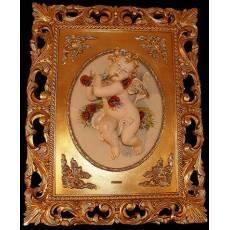 """Барельеф """"Ангелы - Лето"""" Porcellane Principe 836/PP"""