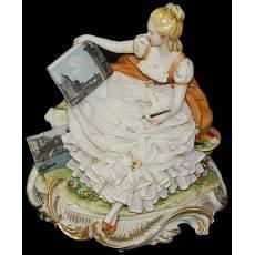 """Статуэтка """"Дама, рисующая картину"""" Porcellane Principe 1119/PP"""