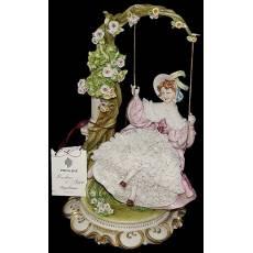 "Статуэтка ""Дама на качелях"" Porcellane Principe 1045T/PP"