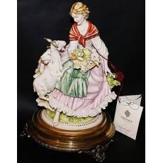 """Статуэтка """"Девушка и козы"""" Porcellane Principe 624L/PP"""