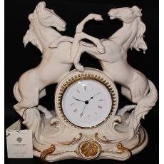 "Часы ""Кони"" Porcellane Principe 402BO/PP"