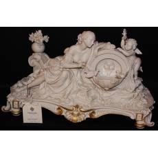 """Статуэтка """"Дама с ангелом у фонтана"""" Porcellane Principe 1067B/PP"""