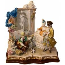 "Статуэтка ""Цветочница у фонтана"" Porcellane Principe 1089/PP"
