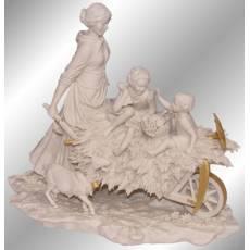 """Статуэтка """"Возвращение с поля"""" Porcellane Principe 528BO/PP"""