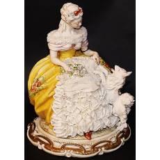 "Статуэтка ""Дама с собачкой"" Porcellane Principe 1010T/PP"