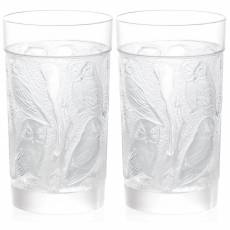 """Набор из 2-х стаканов для воды """"Owl"""" LALIQUE 1731000"""