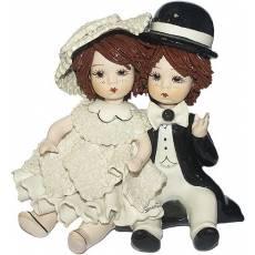 """Статуэтка """"Девочка и мальчик сидящие"""" Zampiva 70201/Z"""