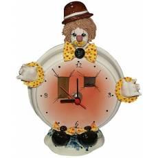 "Часы круглые "" Клоун в коричневой шляпе"" Zampiva 94033/Z"