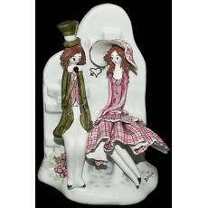 "Скульптура ""Пара сидящая на каменной скамейке"" Zampiva 70009/Z"