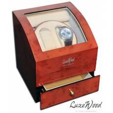 Шкатулка для 2 часов с автоподзаводом с отделением для украшений Luxewood LW721-2