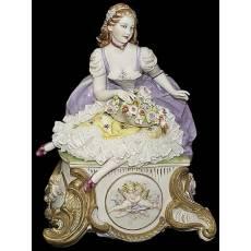 "Статуэтка ""Дама с цветами"" Porcellane Principe 1127/PP"