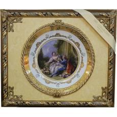 """Панно с тарелкой """"Пастушка и кавалер"""" Arte Casa 7061/17/CASA"""