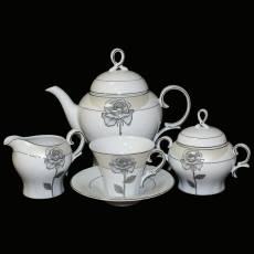 Чайный сервиз на 6 персон Glance J06-003WH-15