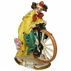 """Статуэтка """"Клоун на велосипедном колесе"""" Venere Porcellane D Arte V/229 T"""