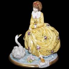 "Статуэтка ""На берегу лебединого озера"" Venere Porcellane D Arte V/260"