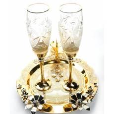 """Набор для шампанского """"Романтичный"""" Златоуст RV0010520CG"""