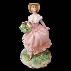 """Статуэтка """"Дама с корзиной цветов"""" Elite & Fabris 457C/EL"""