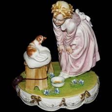 "Статуэтка ""Девушка с кошкой"" Porcellane Principe 732/PP"