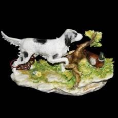 """Статуэтка """"Сеттер и фазан"""" Porcellane Principe 558/PP"""