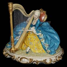 "Статуэтка ""Дама с арфой"" Porcellane Principe 1132/PP"