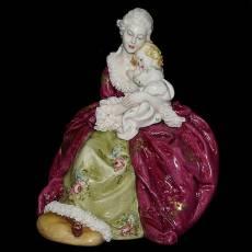 """Статуэтка """"Дама с ребёнком"""" Porcellane Principe 1070/PP"""