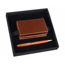 Набор: визитница, ручка шариковая Alessandro Venanzi 28588