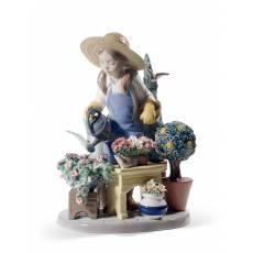 """Статуэтка """"В моем саду"""" Lladro 01008663"""