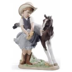 "Статуэтка ""Маленькая фермерша"" Lladro 01008636"