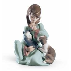 """Статуэтка """"Спящий котенок"""" Lladro 01005640"""
