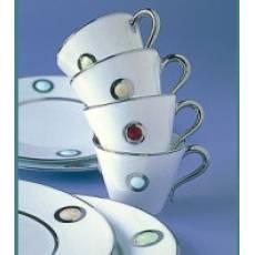 """Чашка чайная с красным рисунком """"Ithaque Or"""" BERNARDAUD 3395IthaqueOr"""