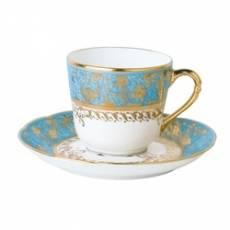 """Чашка кофейная с блюдцем """"Eden Turquoise"""" BERNARDAUD 79EdenTurquoise"""