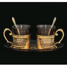 Набор кофейный на 2 персоны Златоуст Авторские работы RV0021865CG
