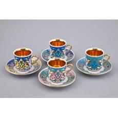 "Кофейный набор из 4-х чашек ""Habibi"" Rudolf Kampf  02150413-2011k"