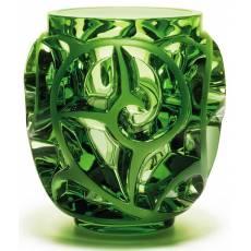 """Ваза для цветов зелёная """"Tourbillons"""" Lalique 10410500"""