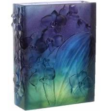 "Ваза для цветов квадратная темно-синяя ""Orchidee"" Daum 05103"