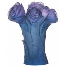 "Ваза для цветов синяя ""Pivoine"" Daum 05215-3"