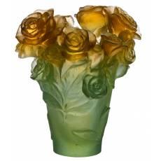 """Ваза для цветов зелено-оранжевая """"Rose Passion"""" Daum 05287-2"""