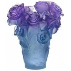 """Ваза для цветов сине-сиреневая """"Rose Passion"""" Daum 05287-3"""