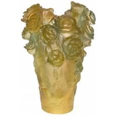 """Ваза для цветов зелёно-оранжевая """"Rose Passion"""" Daum 05264-2/C"""